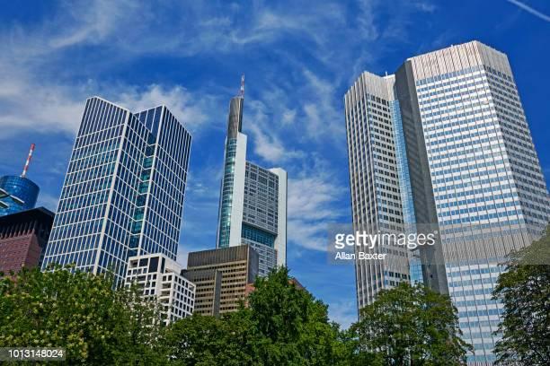 Skyline of Frankfurts business district