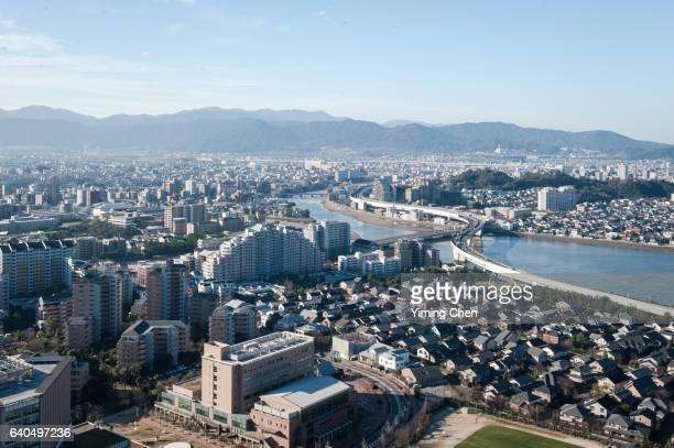 Skyline of Fukuoka City