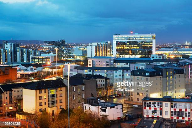 skyline of glasgow - govan stock pictures, royalty-free photos & images