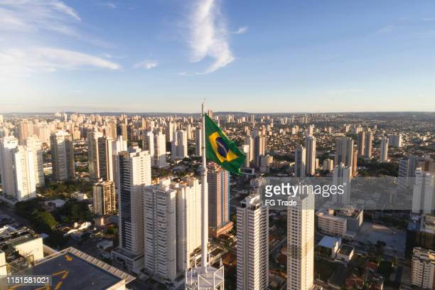 skyline of goiânia, goiás - brasil stock pictures, royalty-free photos & images