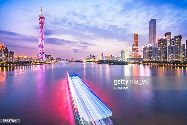 skyline of GuangZhou china