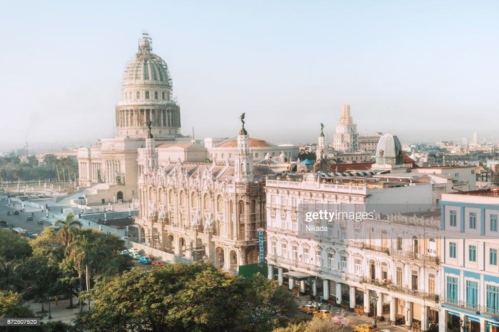 Skyline of Havana with Capitol building : Stock Photo