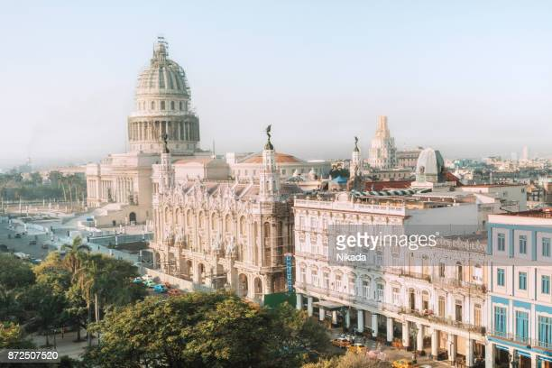 Ligne d'horizon de la Havane avec le bâtiment du Capitole