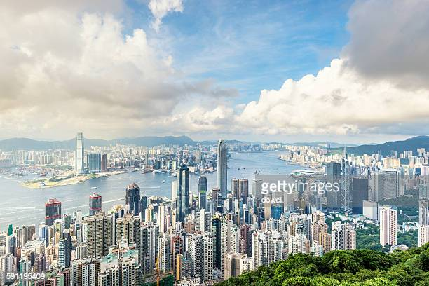 Skyline of Hongkong with cloudscape