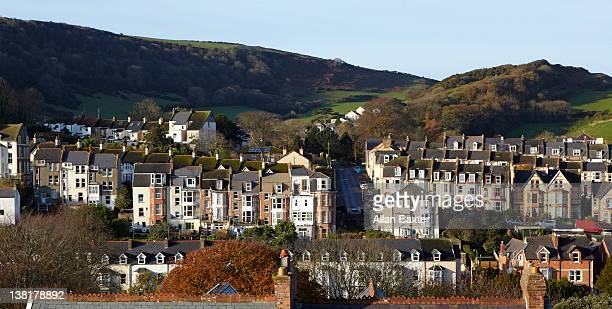 skyline of ilfracombe - newpremiumuk stock pictures, royalty-free photos & images