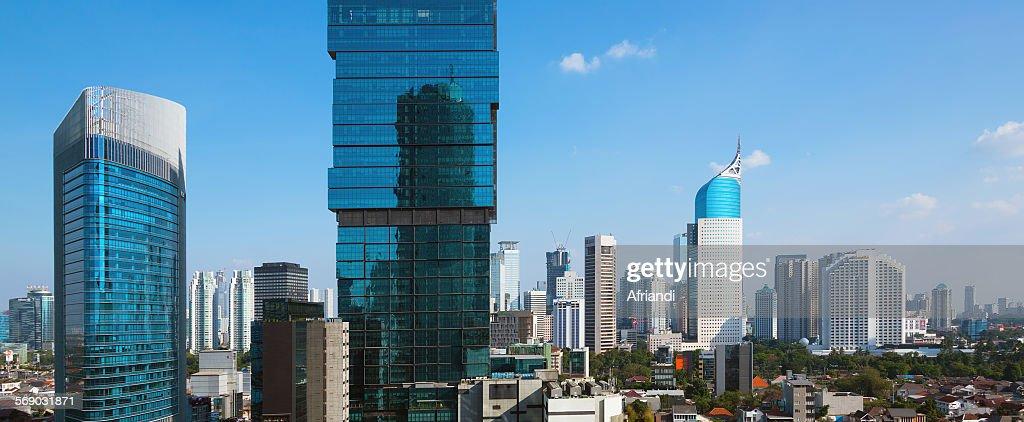 Skyline of Jakarta, Indonesia : Stock Photo