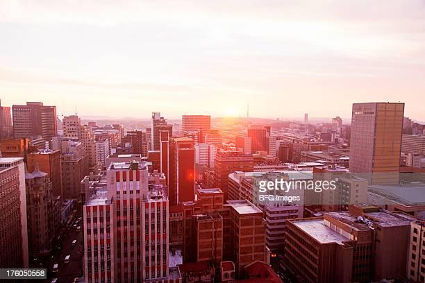 Skyline du centre-ville de Johannesburg, Johannesburg, Afrique du sud de la Province du Gauteng,