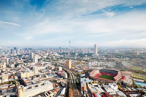 Ville de Johannesburg de Ellis park stadium, du Gauteng