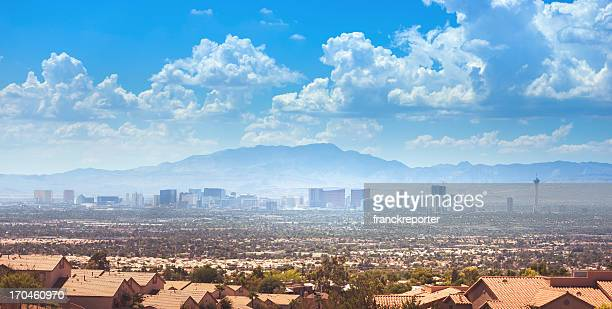 skyline of las vegas city - las vegas stock pictures, royalty-free photos & images