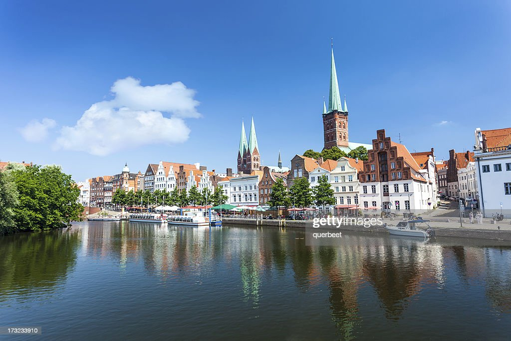 Skyline of Lübeck : Stock Photo