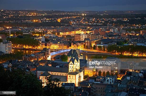 Skyline of Liege at night