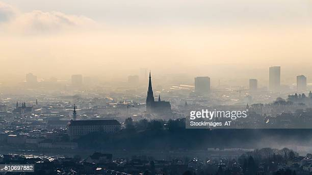 Skyline of Linz in Upper Austria