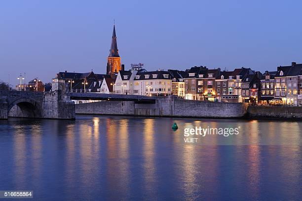 Skyline of Maastricht at night