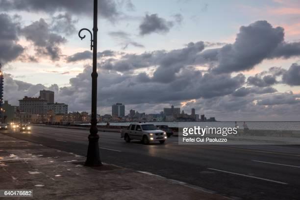Skyline of Malecon Havana in Cuba