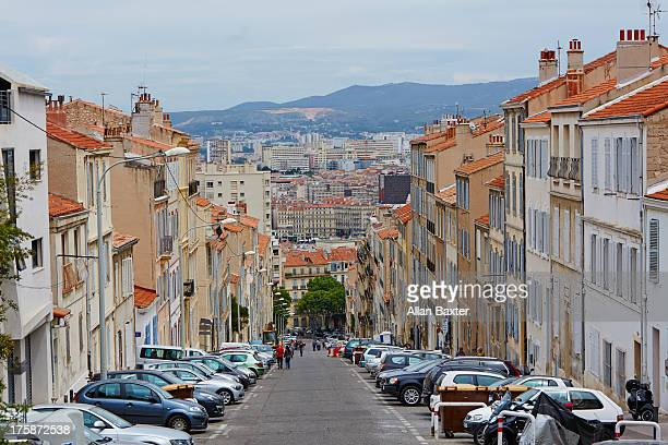 skyline of marseille - marseille stock pictures, royalty-free photos & images