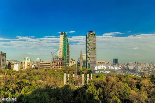 Skyline of Mexico City, view from the Chapultepec Castle, Mexico
