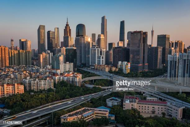skyline of modern city in guangzhou - guangdong province stock pictures, royalty-free photos & images