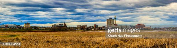 skyline of moncton, new brunswick, canada - khanh ngo stock pictures, royalty-free photos & images