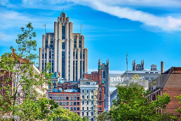 skyline of montreal city,canada - montréal stock pictures, royalty-free photos & images