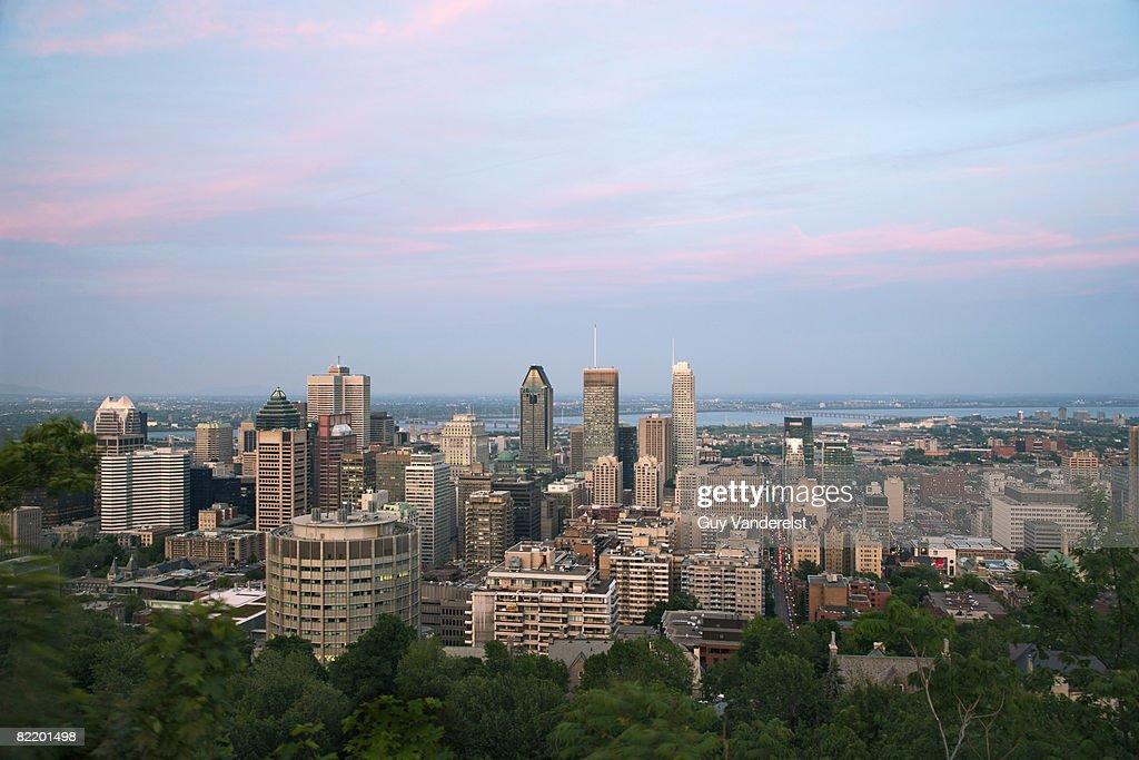 Skyline of Montreal : Stock Photo