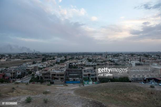 Skyline of Mosul, Iraq from atop Ninevah ruins