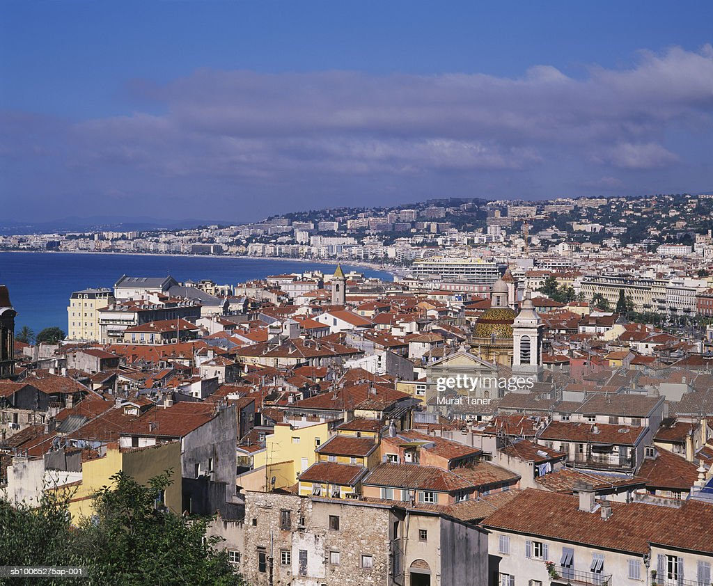 Skyline of Nice, elevated view : Foto stock