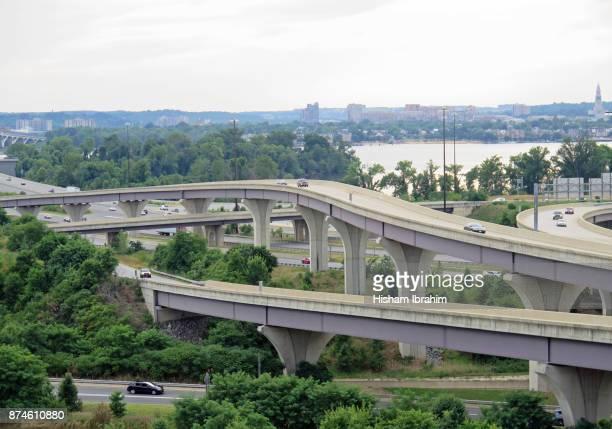 skyline of old town and the potomac river, alexandria, virginia - バージニア州 アレクサンドリア ストックフォトと画像