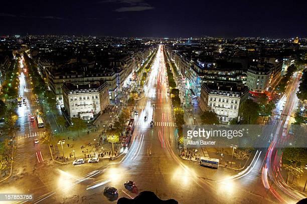 Skyline of Paris at night
