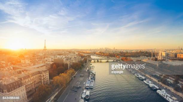 Skyline of Paris from above