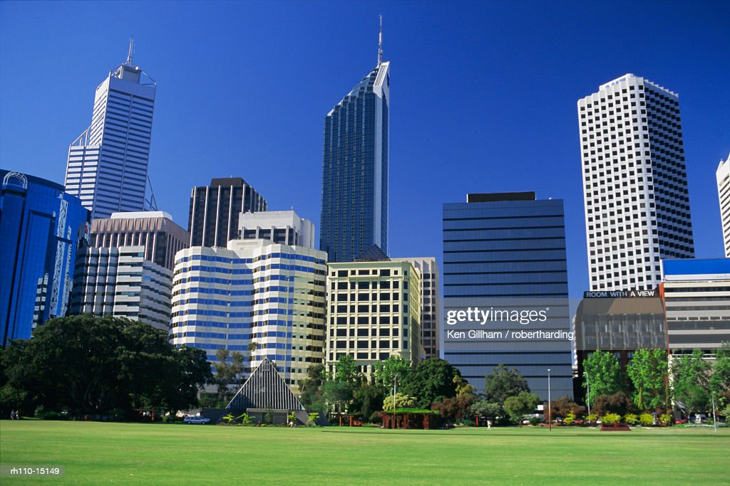 Skyline of Perth, Western Australia, Australia : Foto de stock