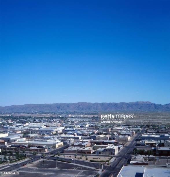 Skyline of Phoenix Arizona US 1970s