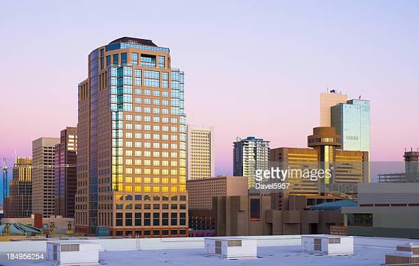 Vue sur la ville de Phoenix, à l'aube