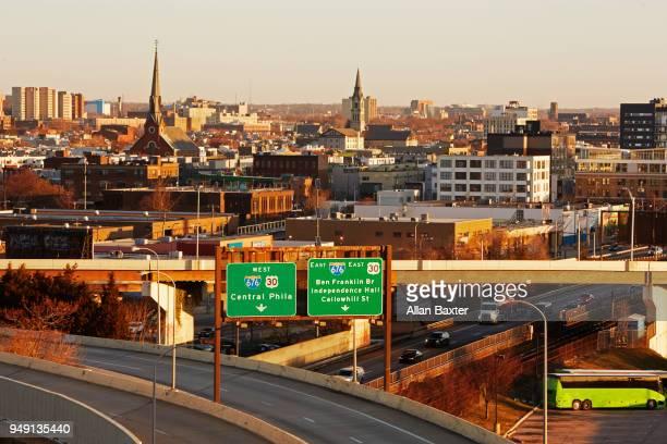 Skyline of Poplar and Yorktown districts of Philadelphia
