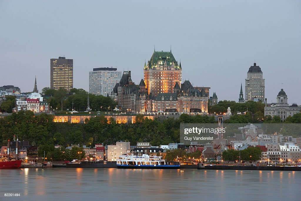 Skyline of Quebec City : Stock Photo