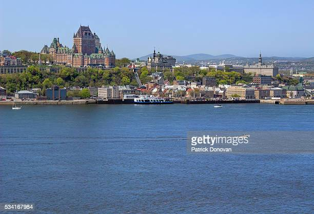 skyline of quebec city, quebec, canada - lévis quebec stock pictures, royalty-free photos & images
