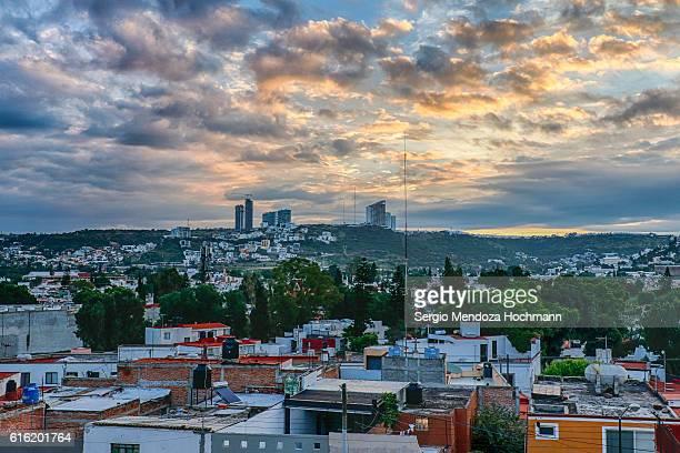 Skyline of Queretaro, Mexico at dawn