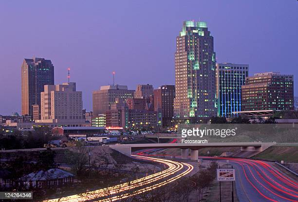 Skyline of Raleigh, NC at night