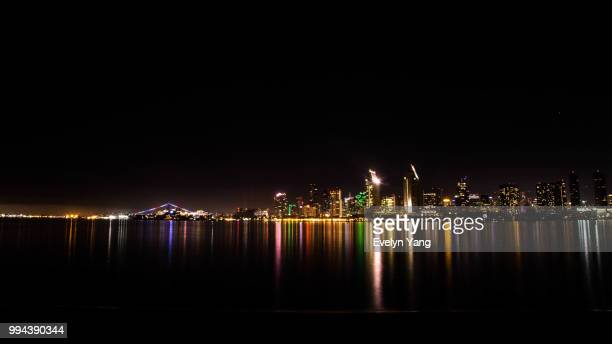 skyline of san diego - evelyn yang stock pictures, royalty-free photos & images