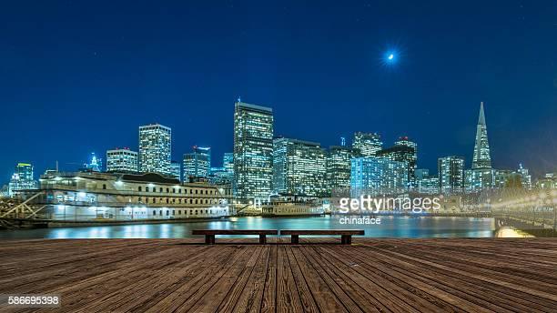 horizonte de são francisco à noite - cena não urbana - fotografias e filmes do acervo