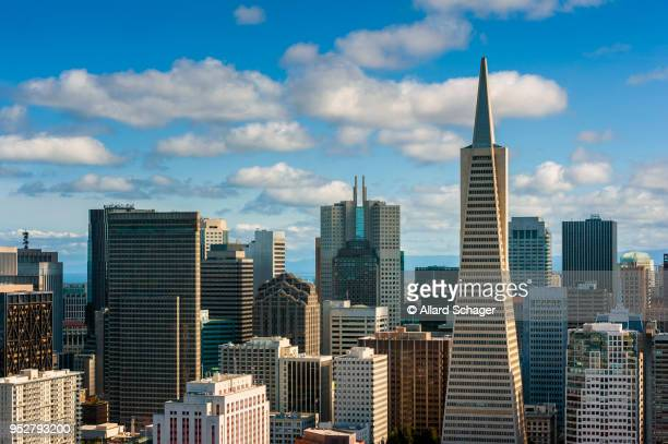 skyline of san francisco - san francisco california stock photos and pictures