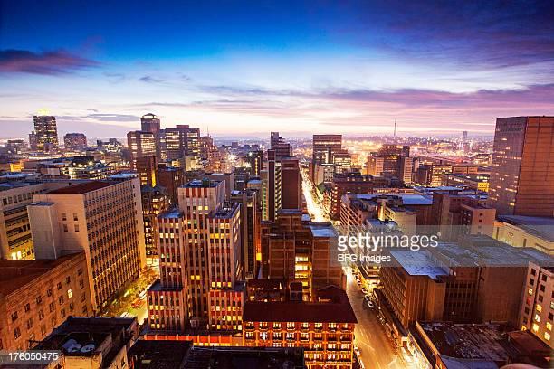 Skyline of Sandton business district, Sandton, Johannesburg, South Africa