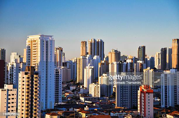 skyline of sao paulo - são paulo stock pictures, royalty-free photos & images