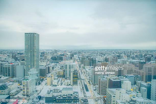 Skyline of Sapporo city,Hokkaido, Japan
