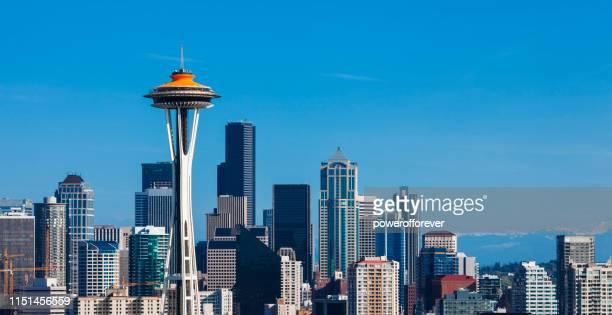 Skyline of Seattle dans l'état de Washington, États-Unis