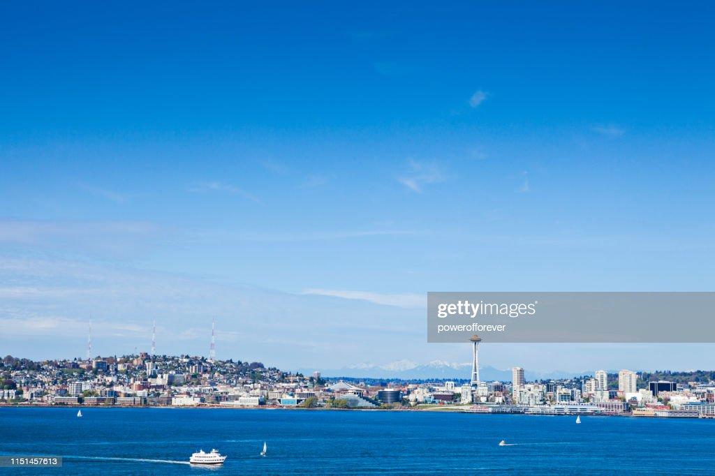 Skyline of Seattle dans l'état de Washington, États-Unis : Photo