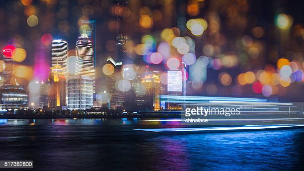 skyline of shanghai china