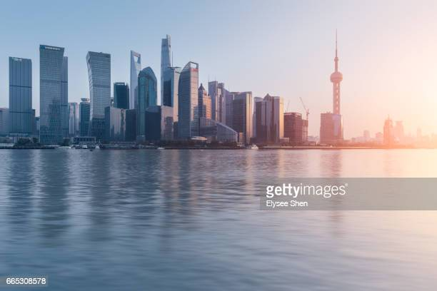 Skyline of Shanghai with Huangpu river