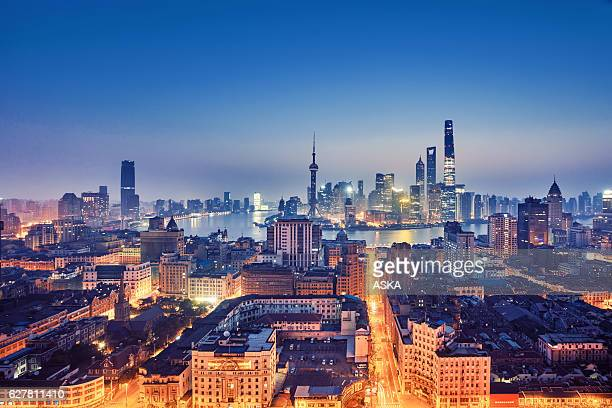 skyline of Shanghai,China