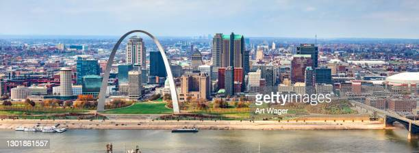 skyline of st. louis - missouri stock pictures, royalty-free photos & images