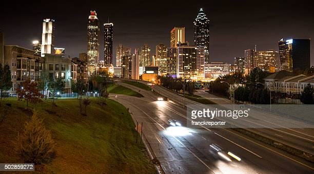 Skyline of the Atlanta on the night